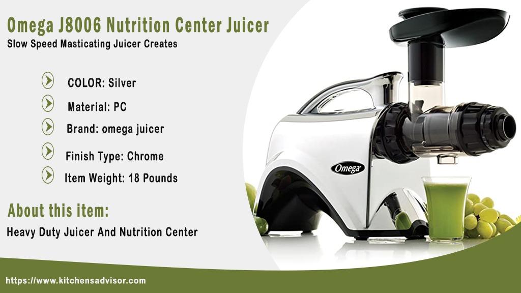 Omega J8006 Nutrition Center Juicer review
