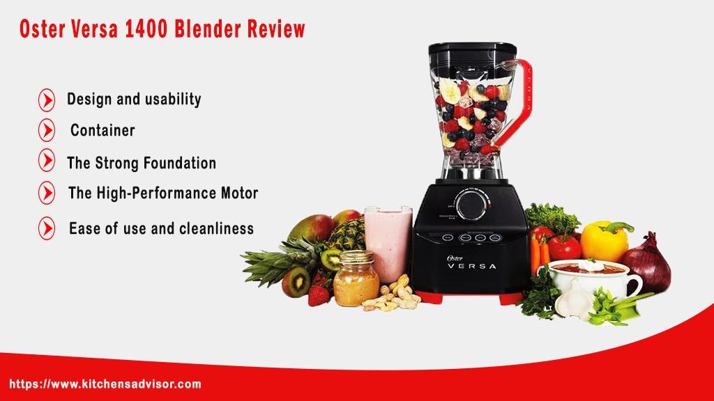 Oster Versa 1400 Blender Review